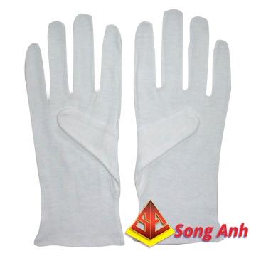 Găng tay vải phủ hạt nhựa