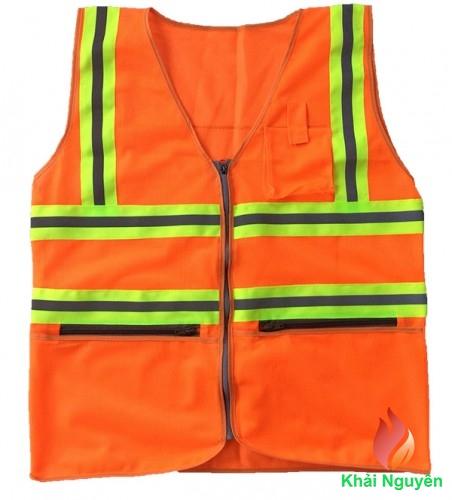 Áo phản quang có túi màu cam