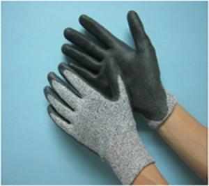 Găng tay chống cắt lv5 phủ PU lòng bàn tay