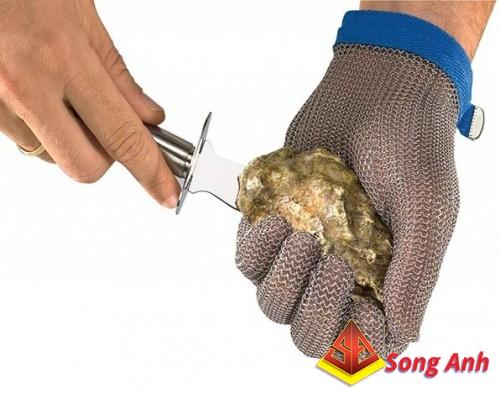 Găng tay chống cắt thép 5 ngón