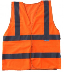 Áo phản quang vải lưới màu cam