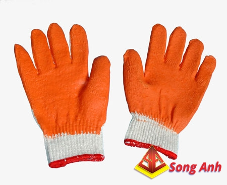 Găng tay len phủ cao su 01